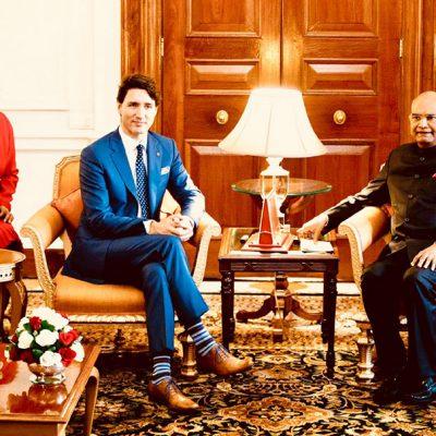 Gurdeep Chawla's interpretation during Canadian PM Mr Trudeau's State Visit to India.