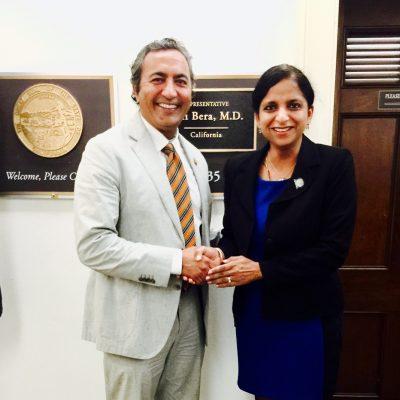 Gurdeep Chawla with Congressman Mr Amy Bera at Capitol Hill, Washington DC