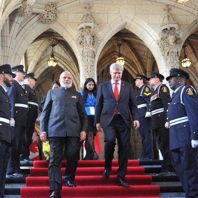 Gurdeep Chawla's interpretation services for Canada's PM Mr. Stephen Harper during Indian PM Mr Modi's State Visit to Canada.