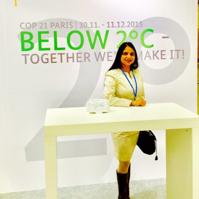 Gurdeep Chawla's interpretation services at Conference on Climate Change in Paris.