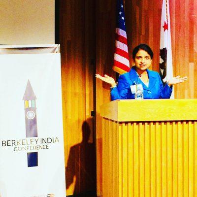Gurdeep Chawla the keynote speaker at Berkeley-India Conference.