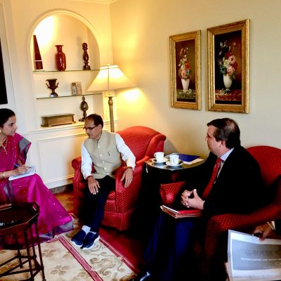 Gurdeep Chawla's interpretation services for the Chief Minister of Madhya Pradesh in New York  and Washington DC