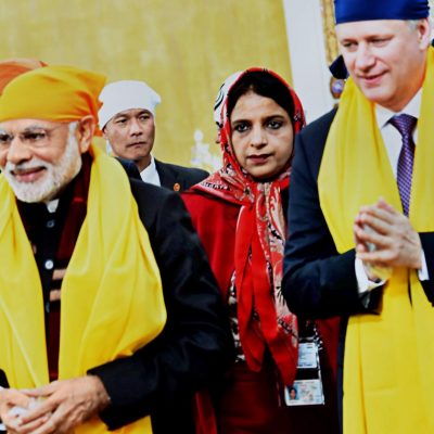 Gurdeep Chawla's interpretation services for Canada's PM and Indian PM.